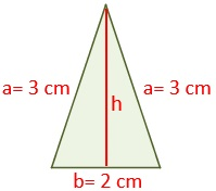Example of isosceles triangle for calculating your area