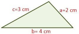 Exercise 1 of scalene triangle to calculate its perimeter