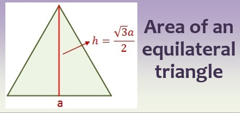 Area of an equilateral triangle