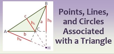 Points, Lines, and Circles Associated with a Triangle